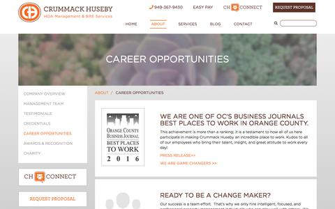 Screenshot of Jobs Page ch-pm.com - Career Opportunities - captured July 8, 2017
