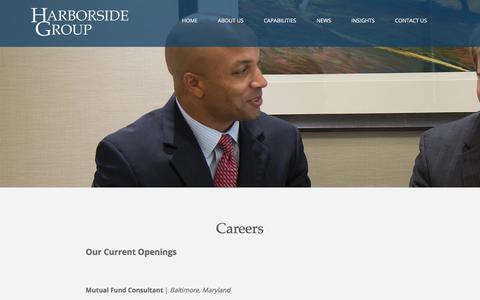 Screenshot of Jobs Page harborsidegroup.com - Harborside Group :: Careers - captured Dec. 1, 2017
