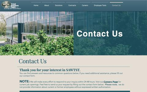 Screenshot of Contact Page sawtst.com - Contact Us | SAWTST, LLC - captured March 26, 2019