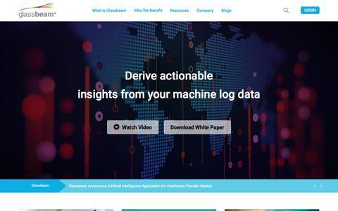 Screenshot of Contact Page glassbeam.com - Machine Log Data Analytics - Big Data analytics Platform - captured April 24, 2018