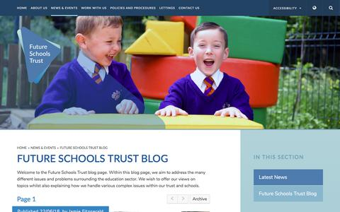 Screenshot of Blog futureschoolstrust.com - Future Schools Trust - Future Schools Trust Blog - captured Sept. 3, 2018