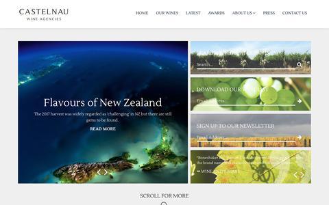 Screenshot of Home Page castelnau.co.uk - Castelnau Wine Agencies - captured Sept. 27, 2018