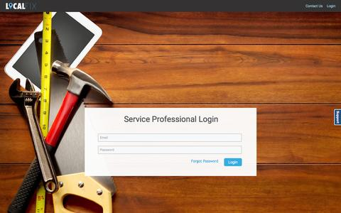 Screenshot of Login Page localfixpro.com - LocalFix - ServiceProviderIndex - captured Feb. 13, 2016