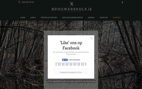 Screenshot of Contact Page brouwerskolkje.nl - Contact met Brouwerskolkje - captured July 11, 2018