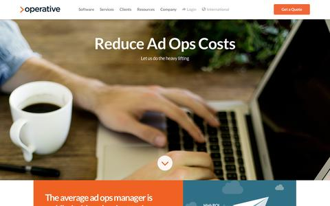 Screenshot of Services Page operative.com - Advertising Operations Outsourced   Operative - captured Oct. 20, 2015