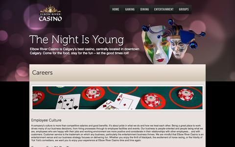 Screenshot of Jobs Page elbowrivercasino.com - Elbow River Casino  |  Careers - captured Sept. 29, 2014