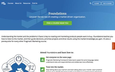 Foundations Course   Pragmatic Marketing