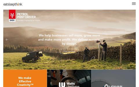 Screenshot of Home Page eatsleepthink.com - eatsleepthink | Creative Design and Digital Agency Sheffield - captured Sept. 30, 2018