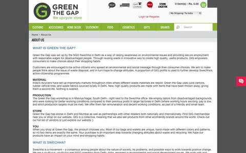 Screenshot of About Page greenthegap.com - About Us - captured Sept. 30, 2014