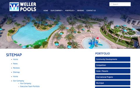Screenshot of Site Map Page wellerpools.com - Sitemap | Weller Pools - captured Nov. 7, 2017