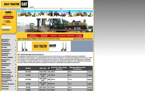 Screenshot of Landing Page kellytractor.com - Kelly Tractor: Equipo para el Hincado de Pilotes - captured Aug. 12, 2016