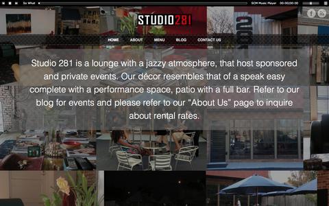 Screenshot of Home Page studio281.com - Studio 281 - captured June 24, 2016