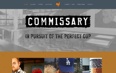 Screenshot of Contact Page coffeecommissary.com captured July 21, 2015