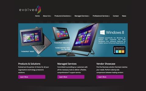 Screenshot of Home Page evolvedis.com - Evolved | Information Solutions - captured Oct. 2, 2014