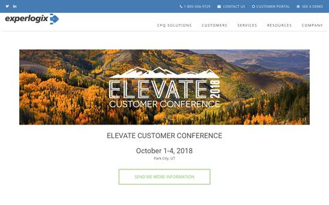 Experlogix CPQ | Elevate Customer Conference