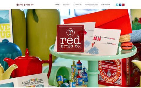 Screenshot of Home Page redpressco.com - Red Press Co. – Hot Off The Presses - captured Sept. 30, 2014