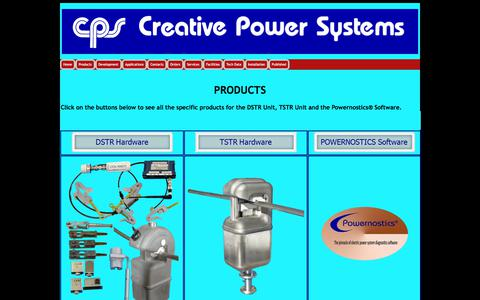 Screenshot of Products Page creativepowersystems.net - Product LISTING Powernostics, DSTR & TSTR - captured July 23, 2018