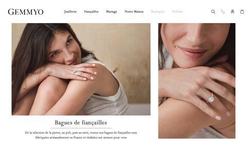 Screenshot of Home Page gemmyo.com - Gemmyo | Joaillerie Made in France - captured July 18, 2019