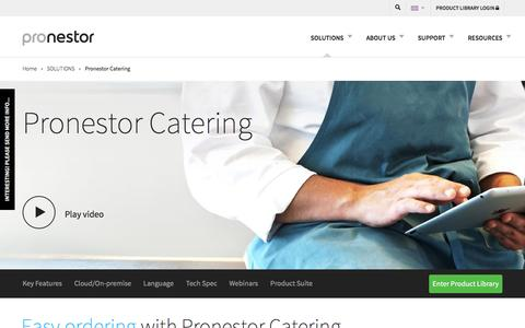 "Catering booking software made easy : Pronestorâ""¢ Solutions"