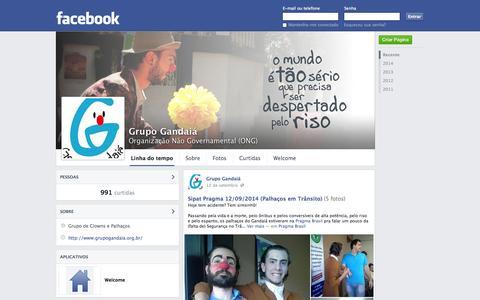 Screenshot of Home Page grupogandaia.org.br - Site em Construção - captured Oct. 3, 2014