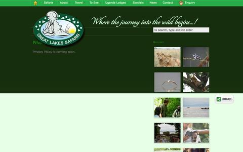 Screenshot of Privacy Page safari-uganda.com - Privacy Policy - captured Sept. 24, 2014