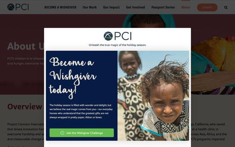 Screenshot of About Page pciglobal.org - About PCI - captured Dec. 12, 2019