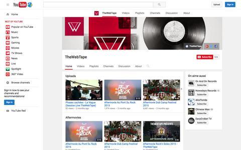 Screenshot of YouTube Page youtube.com - TheWebTape  - YouTube - captured Nov. 23, 2015