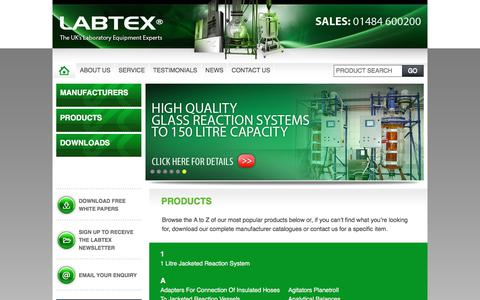 Screenshot of Products Page labtex.co.uk - Products - Labtex - captured July 12, 2017