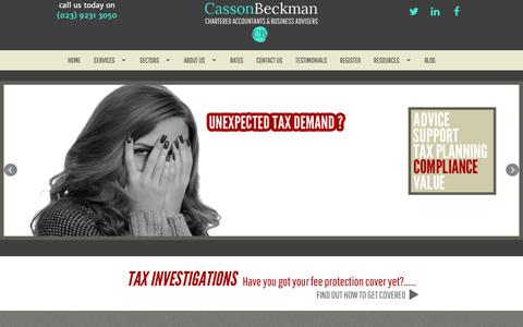Screenshot of Home Page c-b.co.uk - Casson Beckman — Chartered Accountants & Business Advisers - captured Jan. 26, 2016