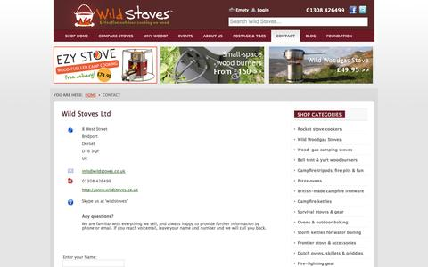 Screenshot of Contact Page wildstoves.co.uk - Wild Stoves Ltd - captured Sept. 19, 2014