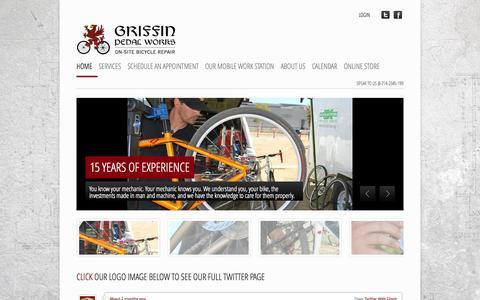 Screenshot of Home Page griffinpedalworks.com - Griffin Pedal Works - captured Oct. 3, 2014