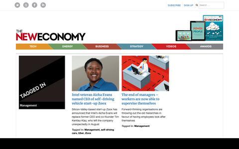 Screenshot of Team Page theneweconomy.com - Management – The New Economy - captured Jan. 25, 2019