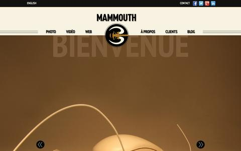 Screenshot of Home Page mammouth3.com - Mammouth3 - Photographie | Video | Web - captured Sept. 30, 2014