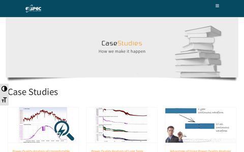 Screenshot of Case Studies Page elspec-ltd.com - Customers Case Studies | Elspec - captured Nov. 4, 2018