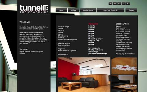 Screenshot of Home Page tunnel15.ch - Tunnel15 - captured Oct. 1, 2014