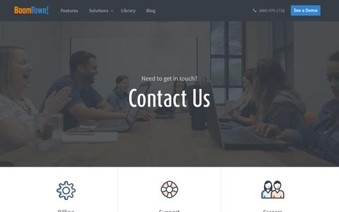 Screenshot of Contact Page boomtownroi.com - Contact Us - captured Sept. 29, 2015