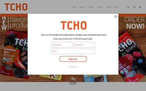 Screenshot of Home Page tcho.com - TCHO Chocolate   TCHO Chocolate - captured July 12, 2018