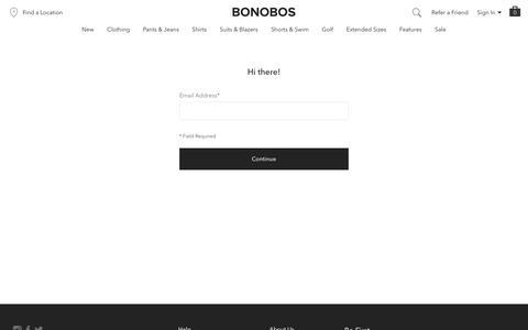Screenshot of Login Page bonobos.com - Account Sign In | Bonobos - captured May 1, 2019