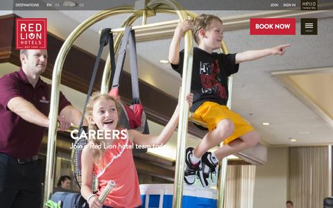 Screenshot of Jobs Page redlion.com - Hotel Careers | Red Lion Hotels - captured Oct. 2, 2015
