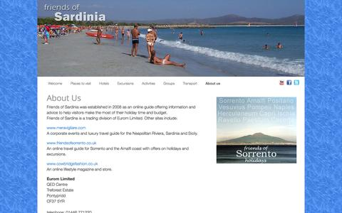 Screenshot of About Page friendsofsardinia.com - Friends of Sardinia - about us | Sardinia - captured April 13, 2016
