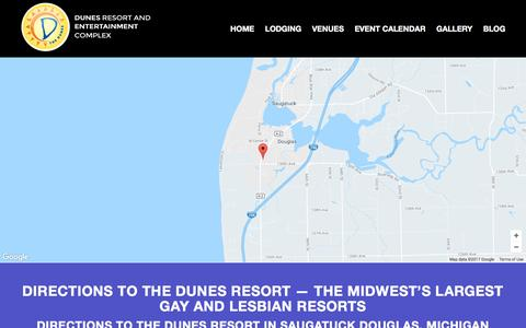 Screenshot of Maps & Directions Page dunesresort.com - Directions to the Dunes Resort | US Gay and Lesbian Resorts - captured April 9, 2017