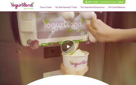 Screenshot of Home Page yogurt-land.com - Yogurtland: Home - captured Dec. 25, 2018