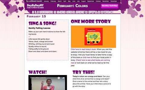 Screenshot of Home Page daybydayny.org - DayByDayNY Family Literacy Calendar - Day By Day NYFamily-Literacy Calendar - captured Feb. 16, 2018
