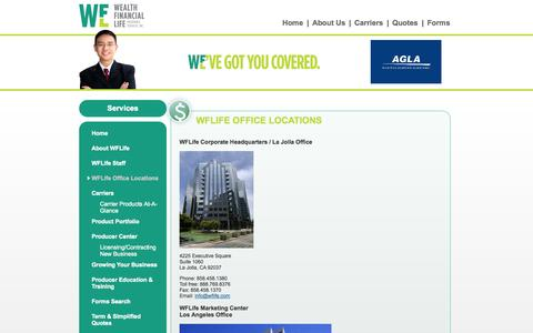 Screenshot of Locations Page wflife.com - WFLife - captured Oct. 1, 2014