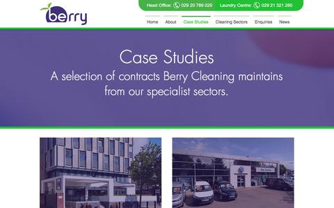 Screenshot of Case Studies Page berrycleaning.co.uk - Case Studies | Berry Commercial Cleaning - Cardiff & South Wales - captured Oct. 10, 2017