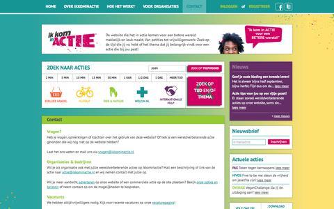 Screenshot of Contact Page ikkominactie.nl - Contact - captured Oct. 6, 2014