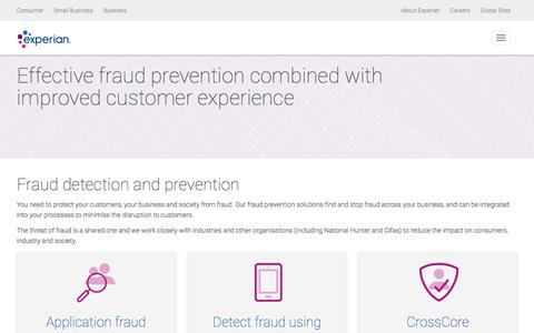 Fraud Prevention | Identity & Fraud | Experian UK