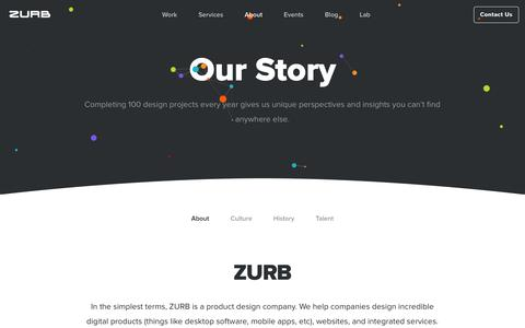 Screenshot of About Page zurb.com - ZURB - About - captured June 18, 2017