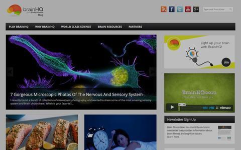 Screenshot of Blog brainhq.com - BrainHQ Blog - Powered by BrainHQ - captured Sept. 17, 2014