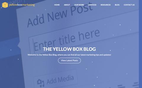 Screenshot of Blog yellowboxmarketing.co.uk - The Yellow Box Blog | Yellow Box Marketing - captured Dec. 10, 2016
